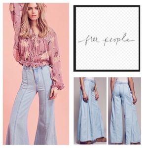 Free People Gilmore Landon Wideleg Jeans 0 NWT